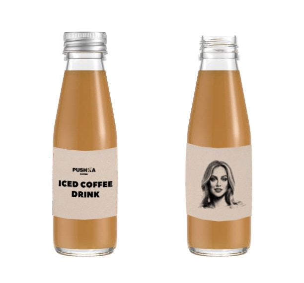 «Pushka coffee» Iced Coffee Bottle