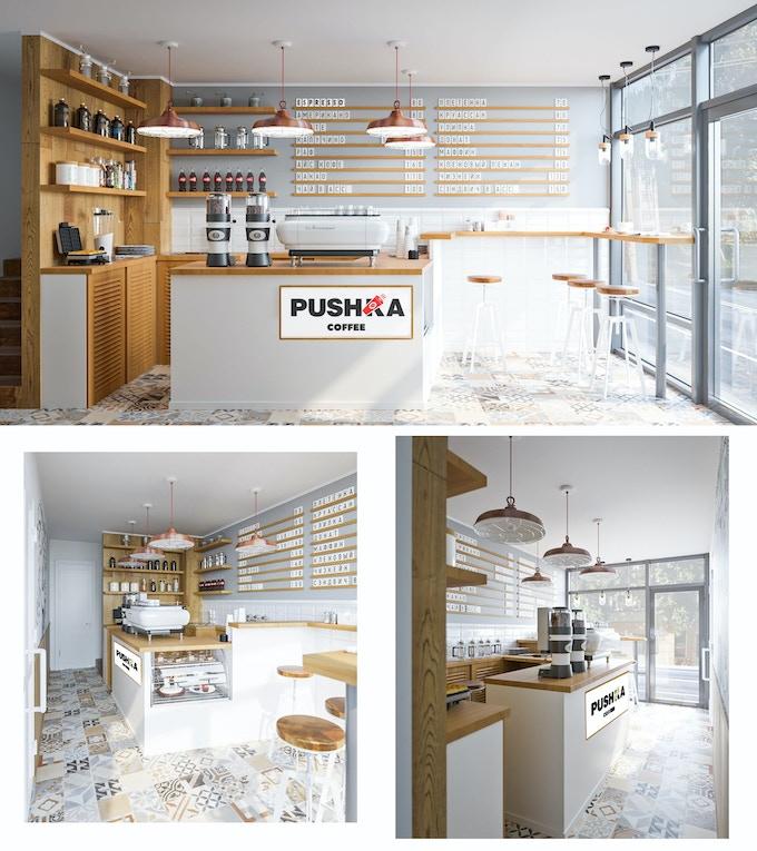 """Pushka Coffee"" Coffe House Concept"