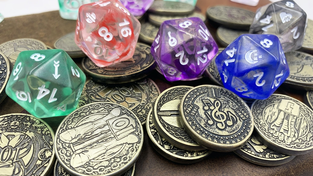 Metal Gaming Coins and Dice: Class Series by D20 Collective project video thumbnail