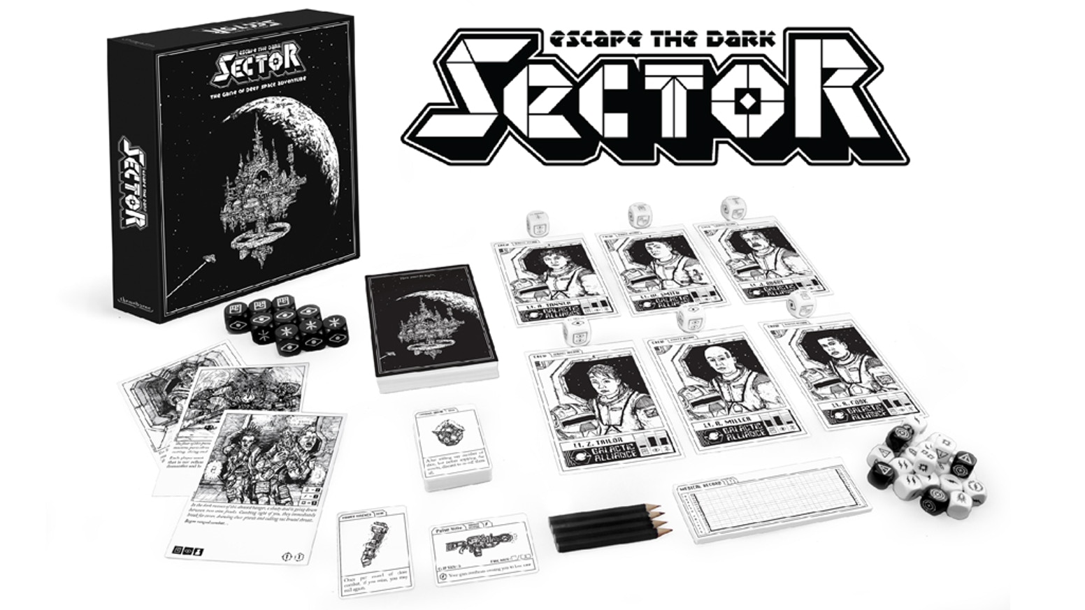 The atmospheric game of deep space adventure, for 1-4 players. Pre-orders are now open for delivery in September 2020!