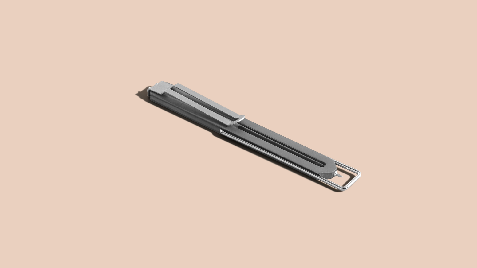 A titanium bookmark pen with a detachable clip. The kid sibling of Pen Type-A and Pen Type-B is finally here.