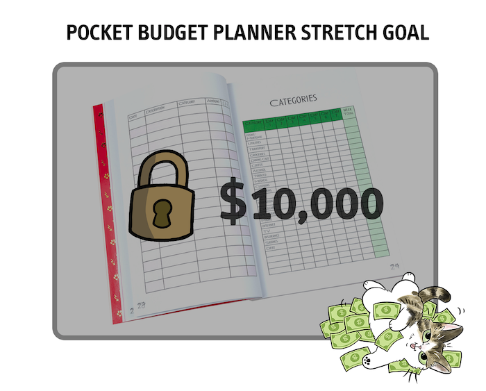 Our $10,000 stretch goal mean we are able to create pocket budget planners!