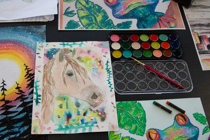 Paint and pastels!