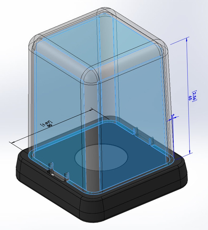 Inside Dimensions. Units of measure are mm [inches].
