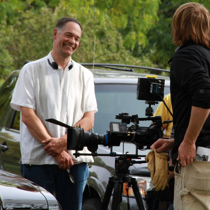 Can you tell I love to be on the set? Here I am during the production of 3 OF A KIND.