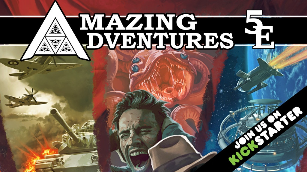 Amazing Adventures 5E RPG project video thumbnail