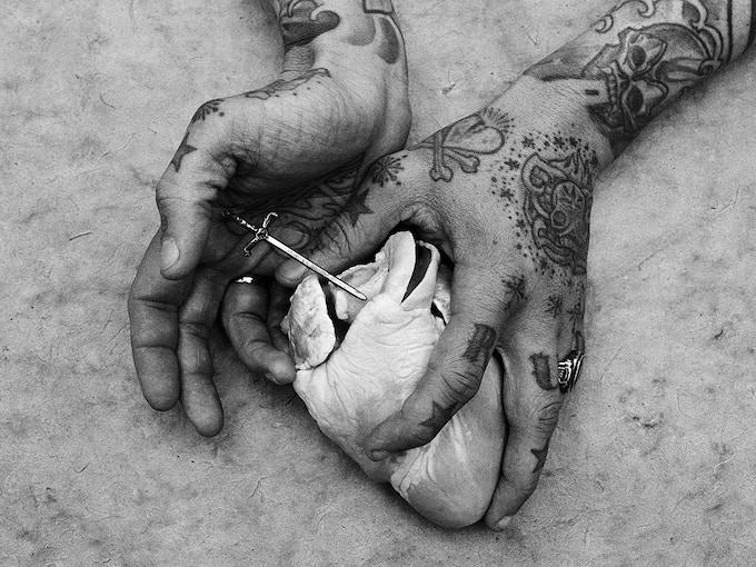 Hands of Lars-Uwe 'Lus Lips' Jensen