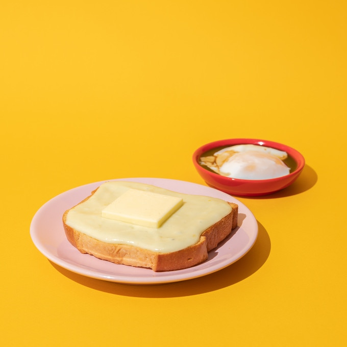 Coconut Jam Toast & Soy Egg