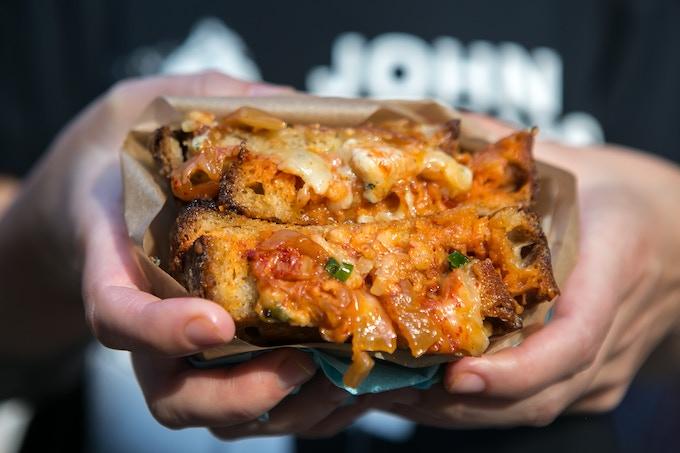 Kimchi & Stilton Grilled Cheese
