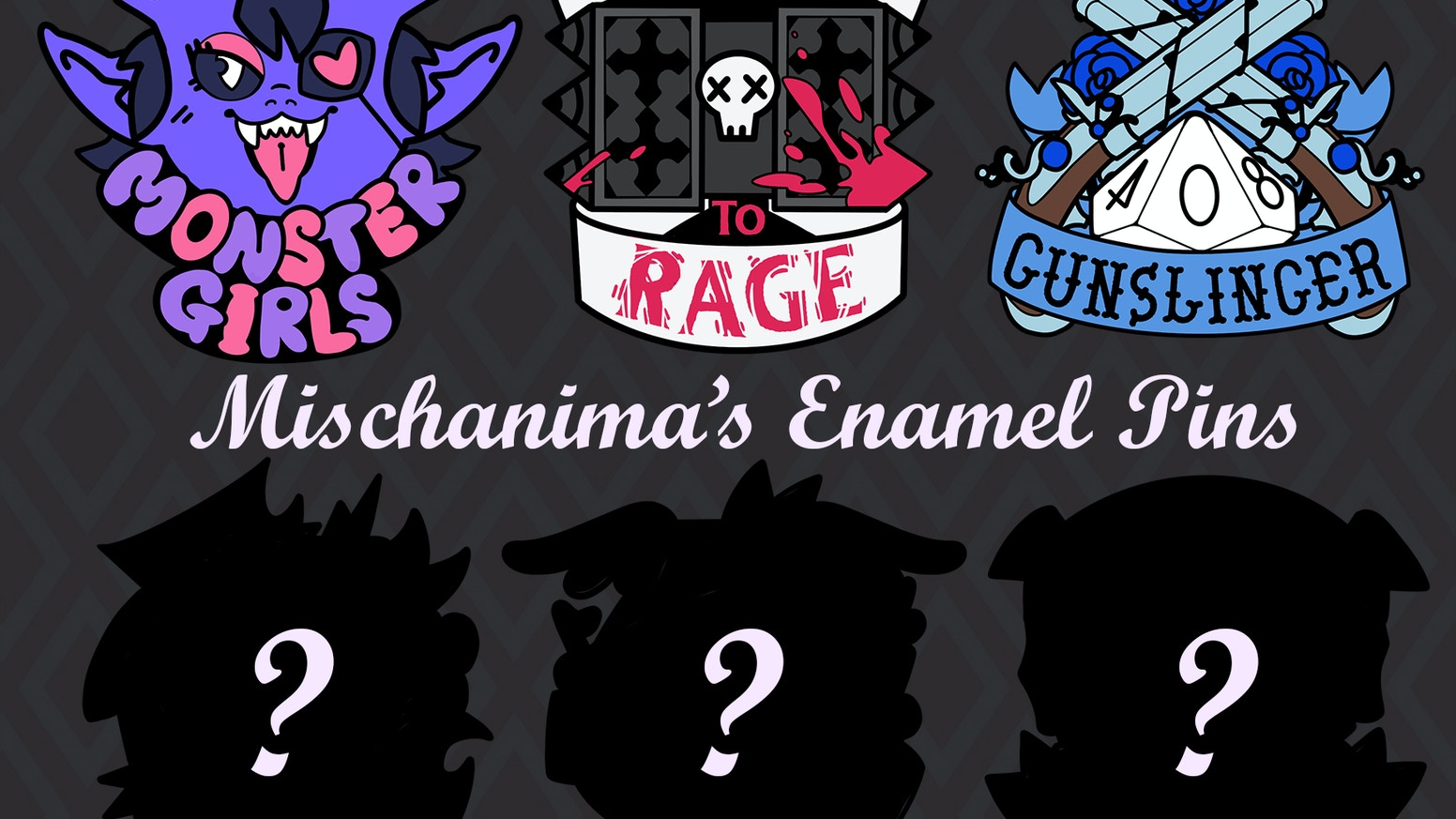 Dungeons and Dragons inspired enamel pins  by Mischanima!