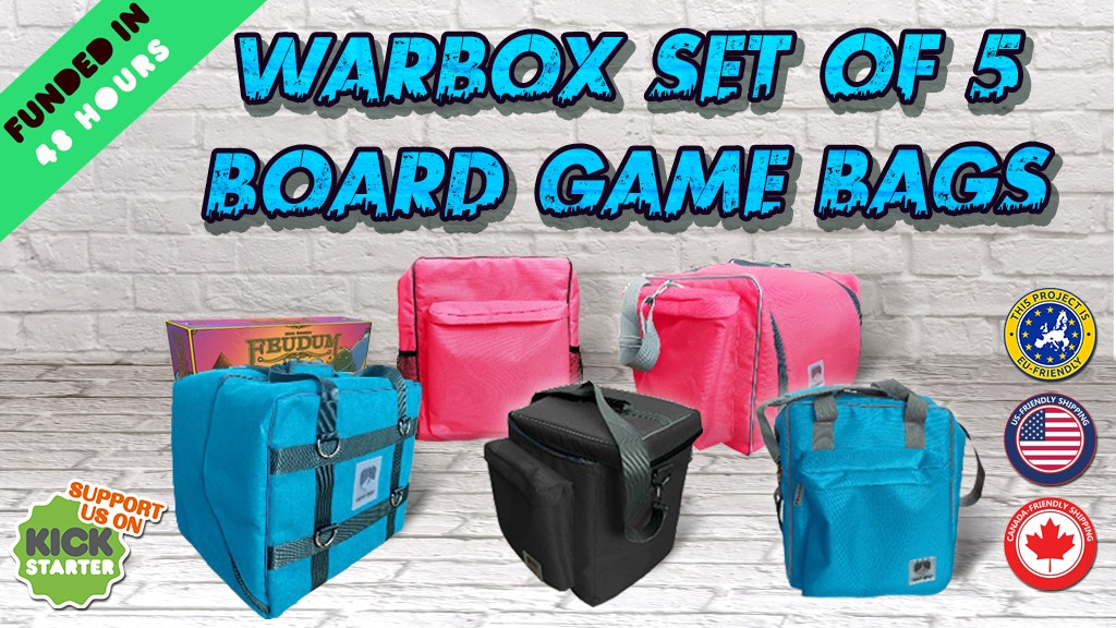 Warbox Board Game Bags project video thumbnail