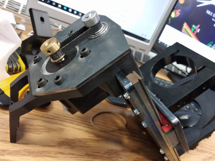 Example of the Z axis motor mount plate
