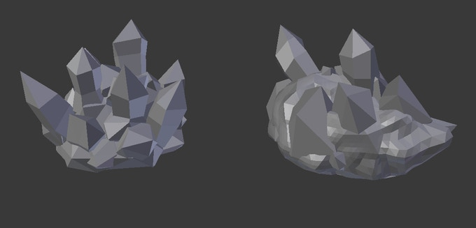 Two Ice Rocks