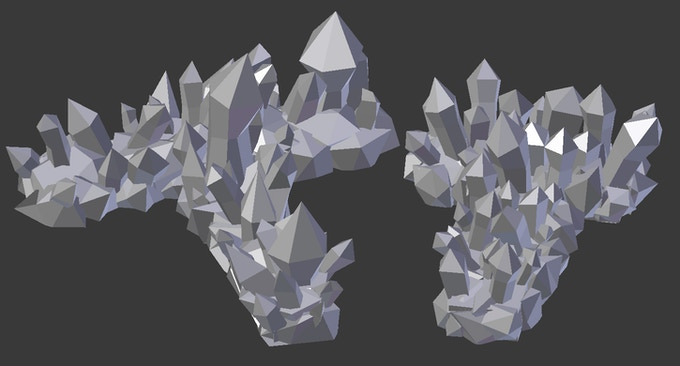 Two T-shaped Ice Walls - One 8cm x 6cm, the other 12cm x 12cm.