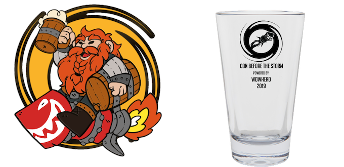 Stretch Goal Rewards - Designs for Enamel Pin and Pint Glass (*Final designs might be different)