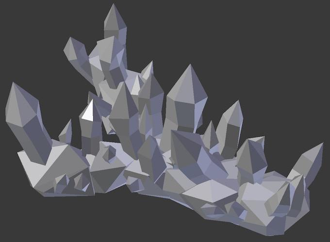 Y-Shaped Ice Wall - Around 9cm x 5cm