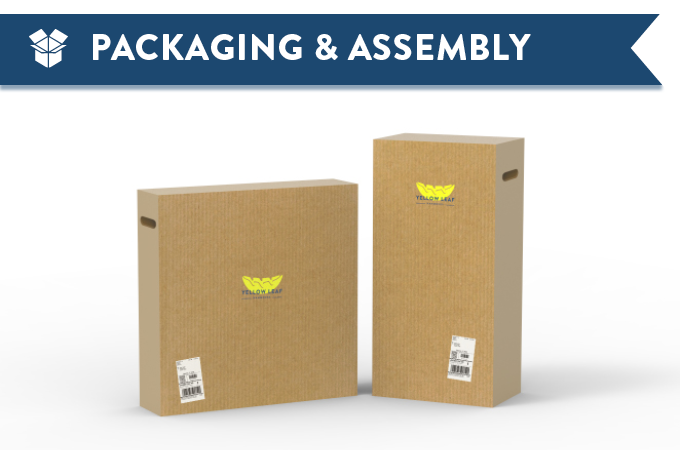 Packaging Mock-Up: The Hammock Throne will be shipped in two flat-pack boxes.