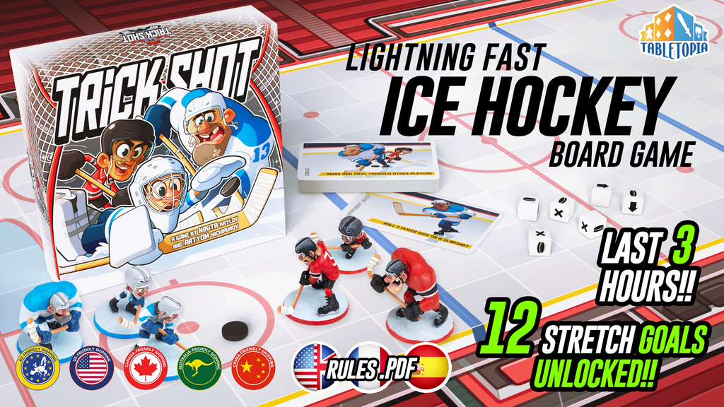 Trick Shot: Ice Hockey Board Game project video thumbnail
