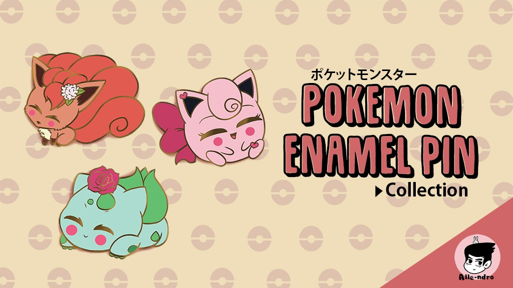 Project image for Pokemon Enamel Pin Collection
