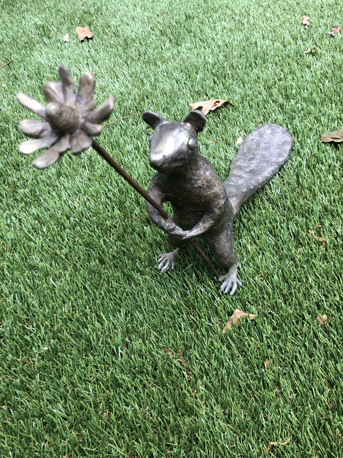 $1,000: A handmake bronze critter(not the one pictured) from Squirrel Gang.