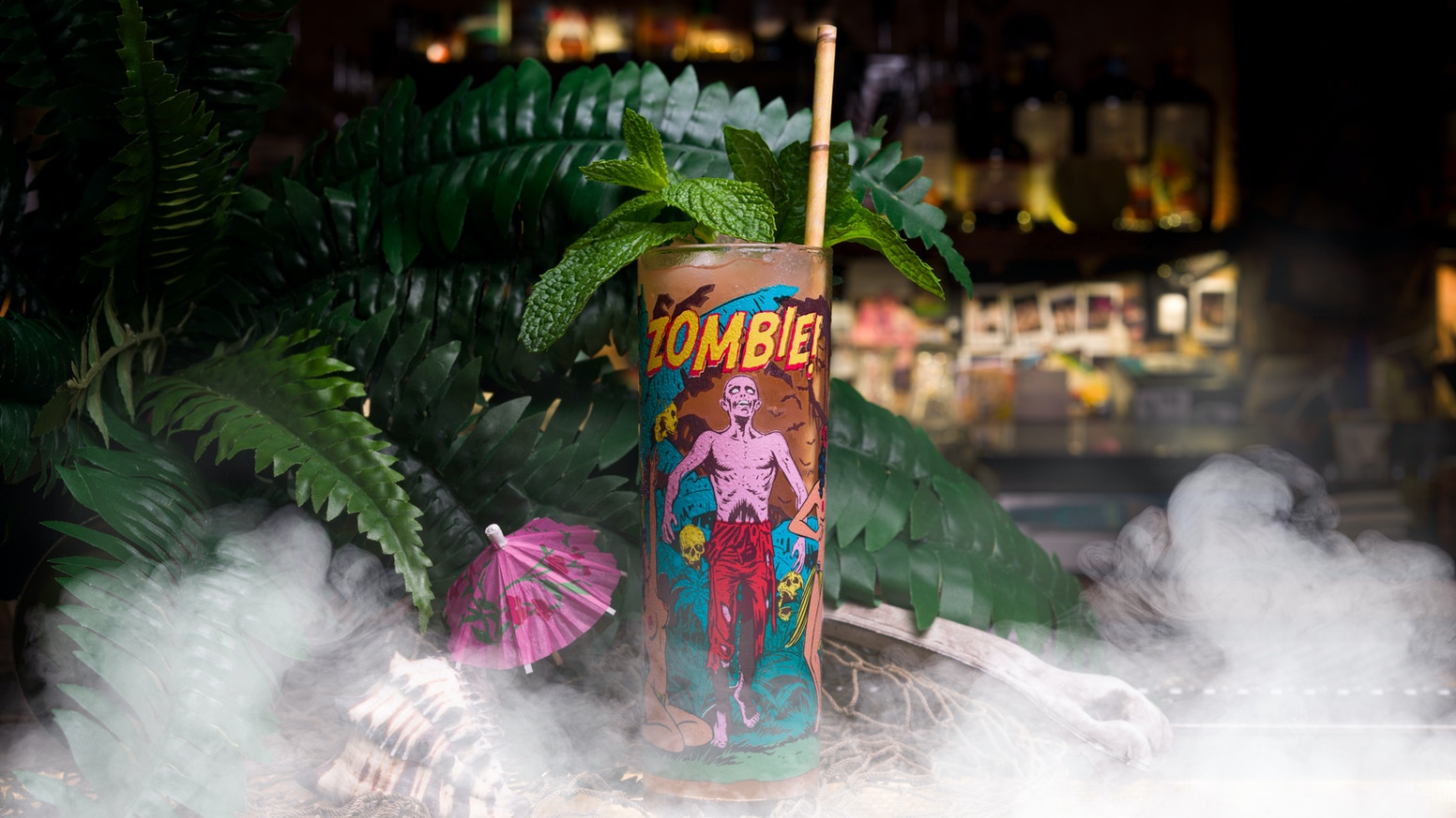 "Just add a tiki cocktail to ""raise the dead"" with this authentic mid-century style glassware!"