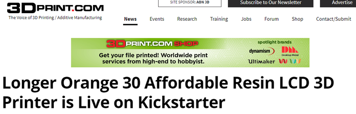 Longer: Reliable & Most Affordable Desktop SLA 3D Printer by