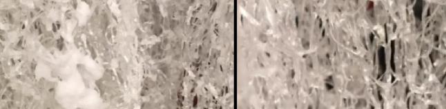 Absichtlich versalzene Netze / Wieder vollständig ausgewaschene Netze