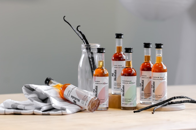 Our new lineup of vanilla extracts is sure to delight experienced and novice chefs and bakers alike. For the first time only on Kickstarter!