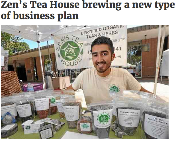 *2013 Zen's Tea House news article photo, Whittier Daily News