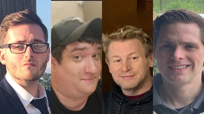 Jeff Jones, Rob Hebert, Jim McMahan, Brad Hoisington