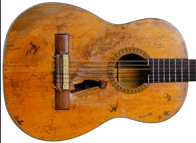 -Donate and send your lonely acoustic guitar that you saddly never use anymore. It will now become an integral part of the artwork. Please sign it! A bit of wear is perfect(like old jeans) but It can't be falling apart. You will receive a spotify playlist of essential country music by legendary musicologist Bill Malone, author of Country Music USA.
