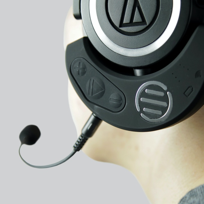Meet the M50X Pro Gaming Kit - A powerful bluetooth adapter for the acclaimed Audio Technica headphone set.