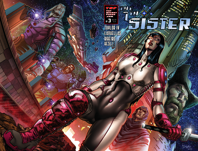 The 7th Sister #3 (Cover A) by Rafael Lanhellas (Pencils & Inks) & Ivan Nunes (Colors)