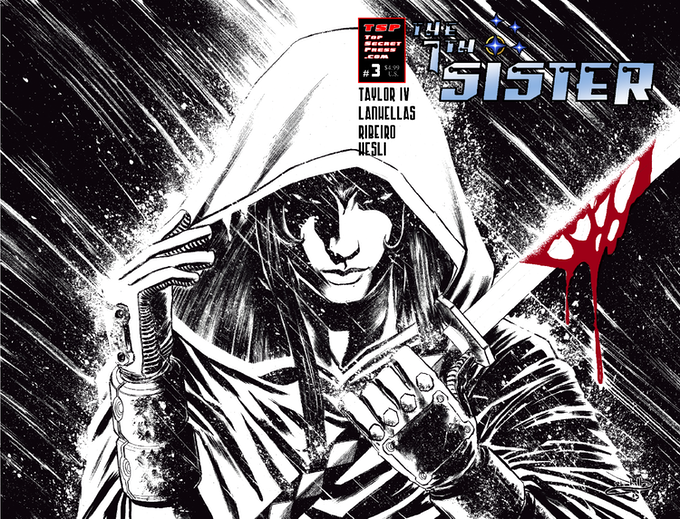 The 7th Sister #3 Cover B by Rafael Lanhellas (Pencils & Inks)