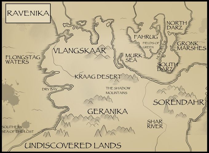 Ravenika - A once peaceful land now plagued with chaos and destruction.