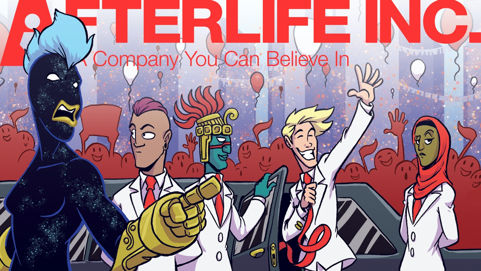 CEO Jack Fortune learns the high price of success in the latest print volume of Afterlife Inc.