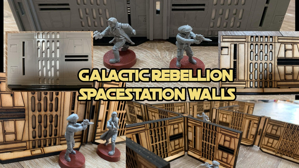 Project image for Galactic Rebellion SPACE STATION Walls (28-32mm scale)
