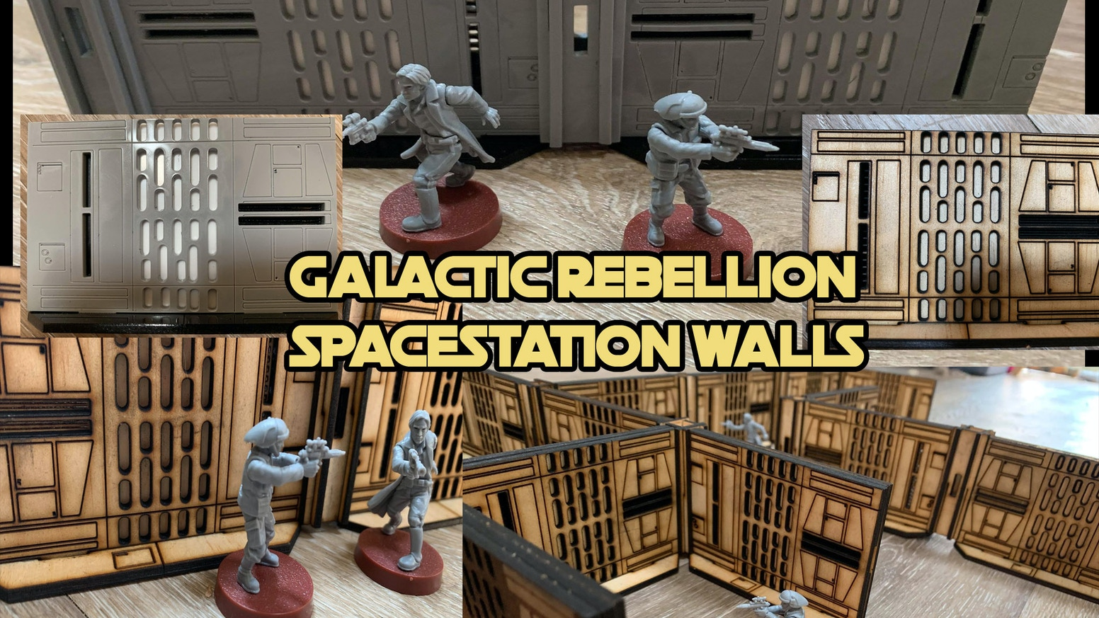 Galactic Rebellion SPACE STATION Walls (28-32mm scale) by