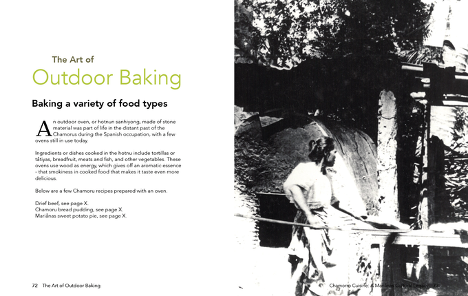 Unedited Draft of The Art of Outdoor Baking Page | Credit: Gerard Aflague Collection