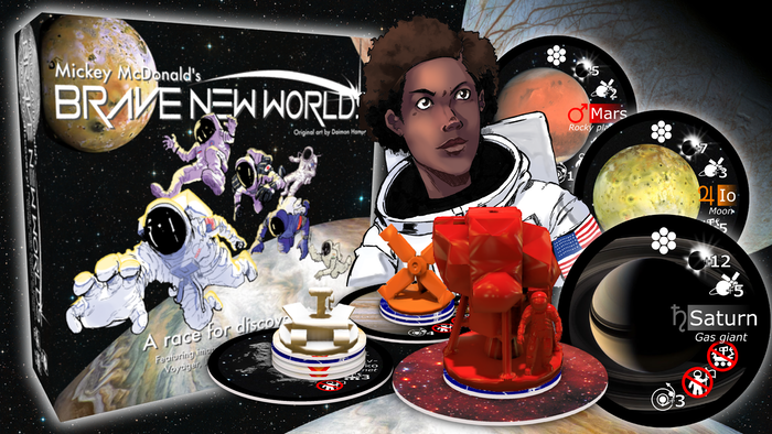 A strategic tile-discovery game incorporating every explored world in the Solar System, from Asteroids to Ice Giants.