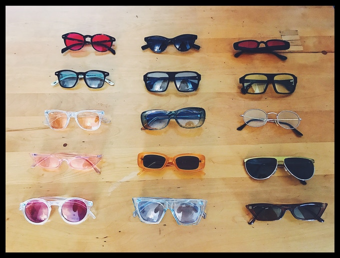 All the glasses worn during color theory workshop!