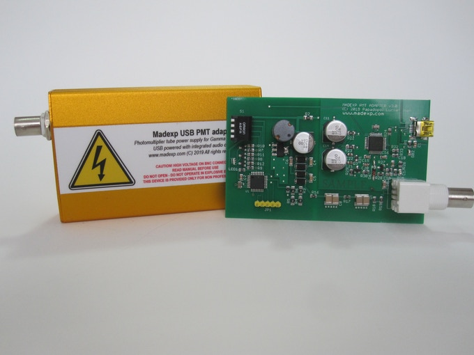 An example of the encolosed pcb in an alluminium enclosure and the PCB that's inside it.