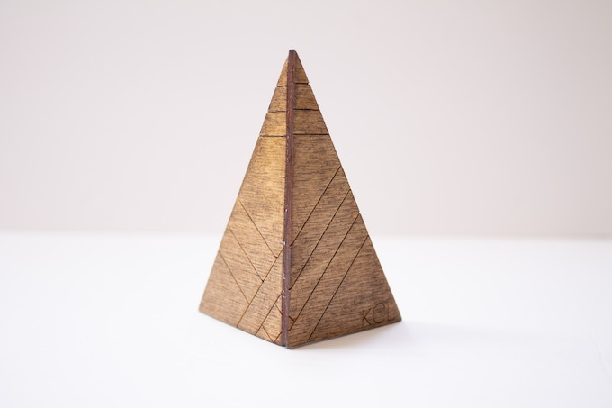 Personalized Ring Cone (Stained Birch)