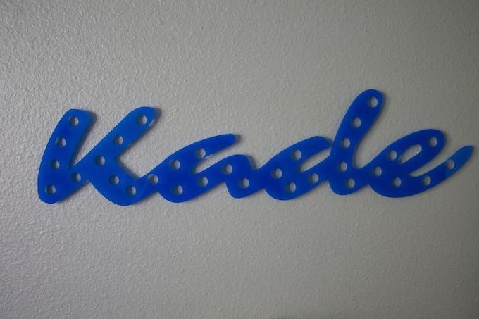 Blue acrylic with holes