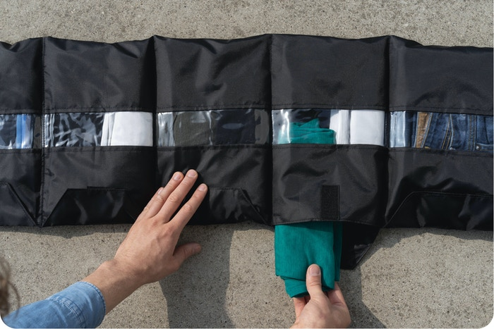 Say goodbye to messy clothes! Innovative way to organise your clothes on a trip!  Travel clever by plane, train, bike or motorcycle!