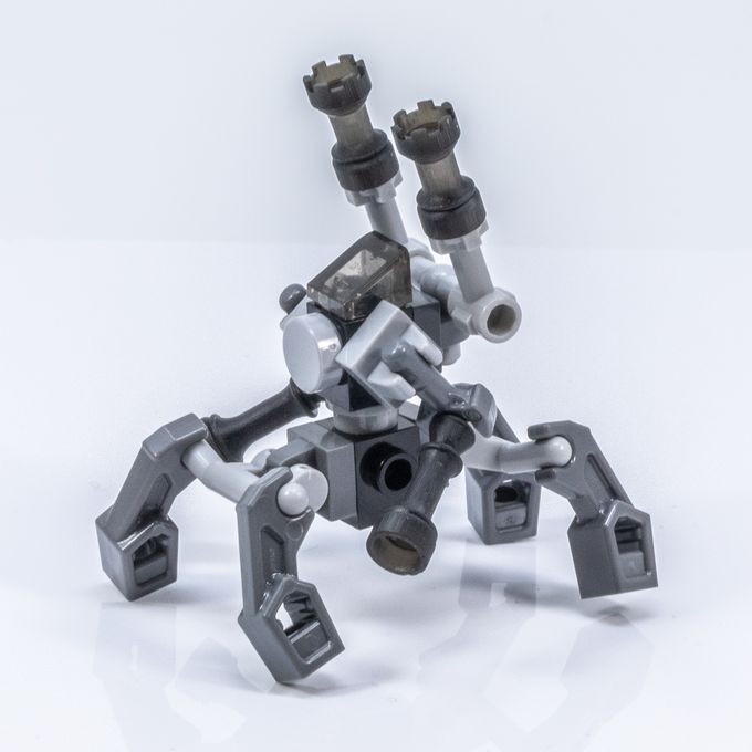 How many Brick Mini Chess pieces can you spot on this Micro Mech? *Photo is of prototypes only - final product will be injection molded ABS in color-matched colors with a polished finish.*