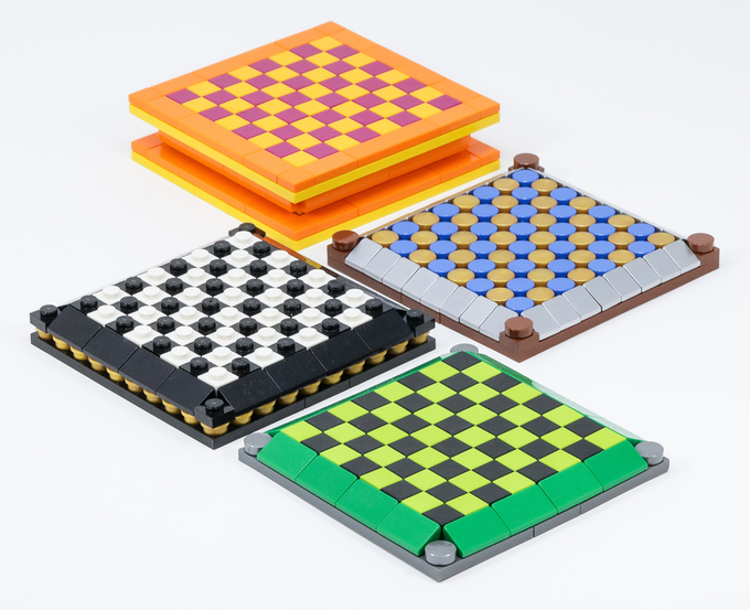 Make your own custom boards to go along with your Brick Mini Chess pieces!