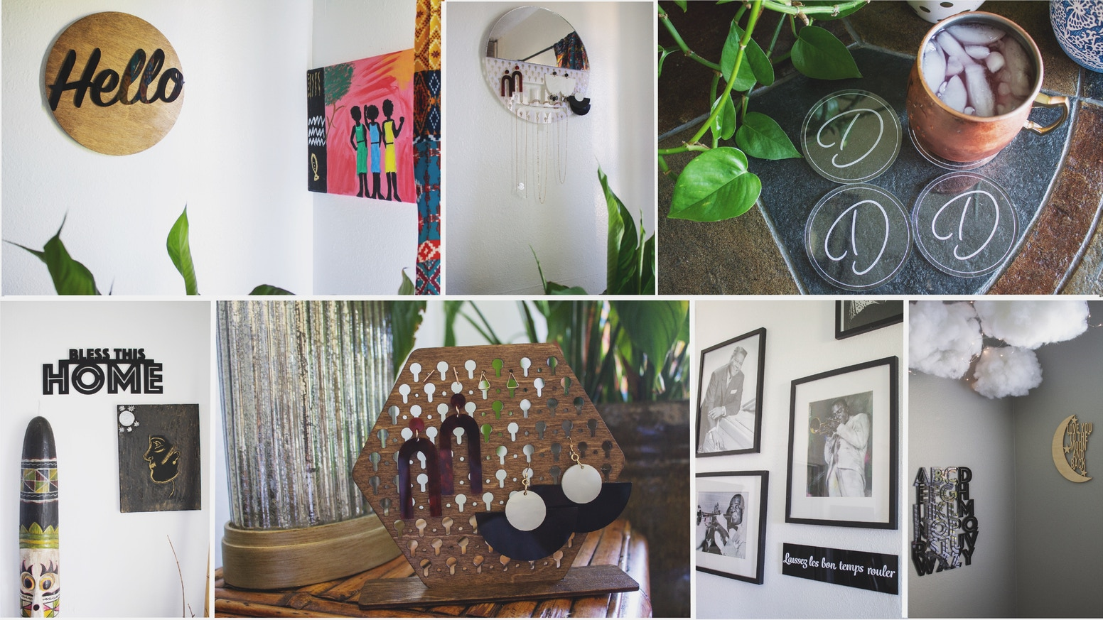 Laser cut and handmade decor and accessories