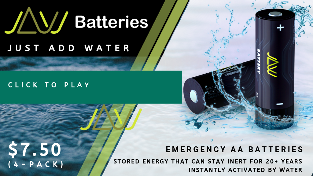JAW BATTERY | Just Add Water | FRESH Batteries all the time! project video thumbnail