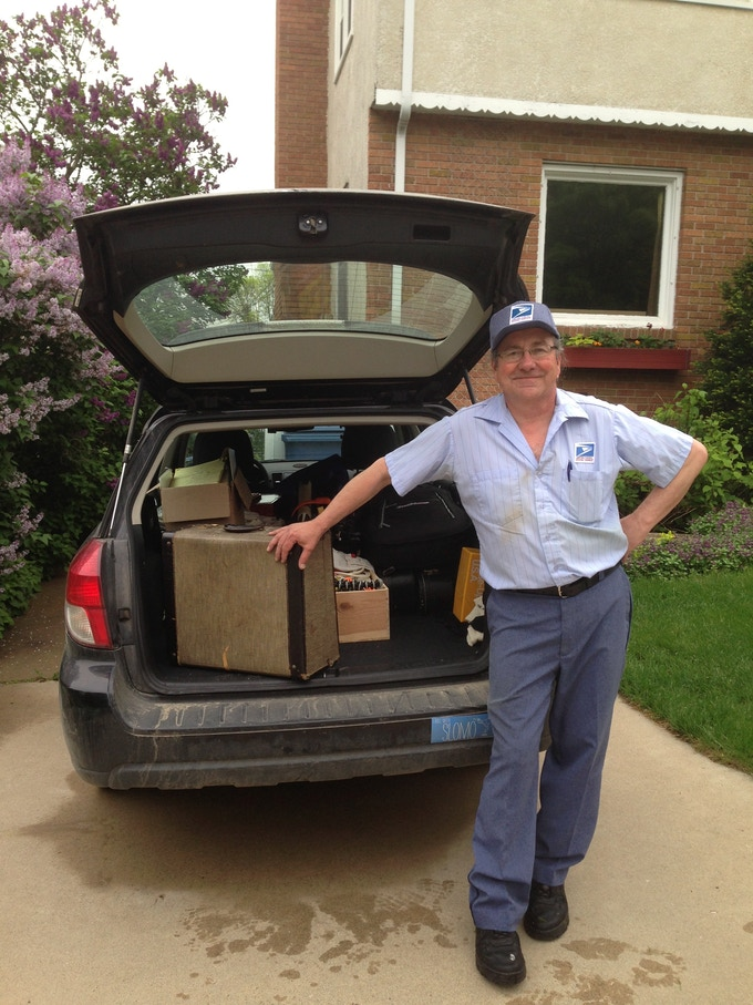 Minneapolis host who gave me his accordion that he used to win polka competitions with as a child.  Inside scoop - dogs do chase mailmen.